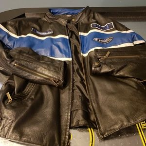 First Racing Men's Leather Motorcycle Jacket